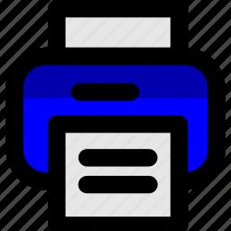 device, paper, print, printer, printing icon