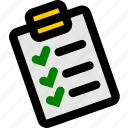checklist, clipboard, note, task, tasks icon