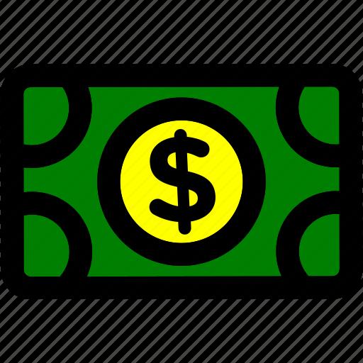 bill, dollar, money, usd icon