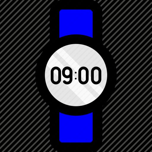 alarm, arlogy, clock, time, wacth, wait, wristband icon