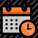 alarm, calendar, clock, date, month