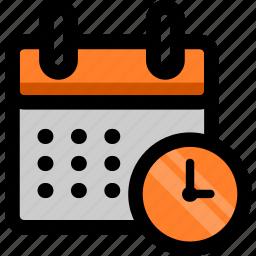 alarm, calendar, clock, date, month icon