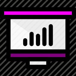 graph, graphic, presentation, statistic icon