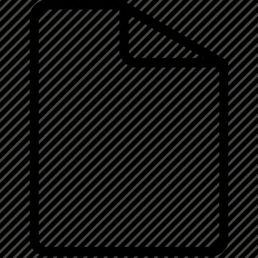 blank, document, file, paper, script icon