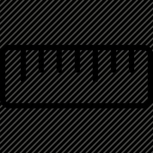 measure, ruler, straight icon