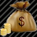 bag, cash, dollar, finance, money, sack, wealth icon