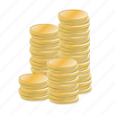 business, cash, cent, coins, currency, economy, finance, gold, golden, money, rich, stack, stacked, treasure, wealth icon