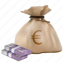 bag, bundle, business, buy, cash, currency, economy, euro, finance, finances, market, money, moneybag, pay, payment, profit, realistic, rich, sack, sale, savings, shopping, sign, tax, treasure, wealth icon