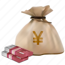 bag, buy, cash, currency, money, yuan icon