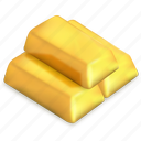 bars, gold, ingots, market, precious, treasure, wealth icon