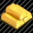bars, gold, ingots, market, precious, treasure, wealth icon