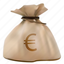 bag, business, buy, cash, currency, economy, euro, finance, finances, market, money, moneybag, pay, payment, profit, realistic, rich, sack, sale, savings, shopping, sign, tax, treasure, wealth icon