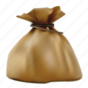 bag, brown, realistic, sack, tax icon
