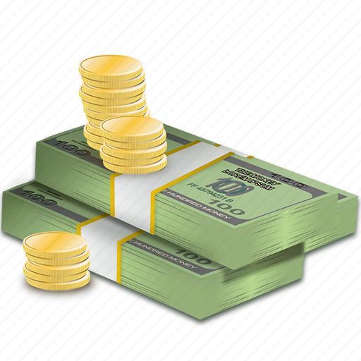 bundle, cash, cent, coins, currency, dollars, money icon