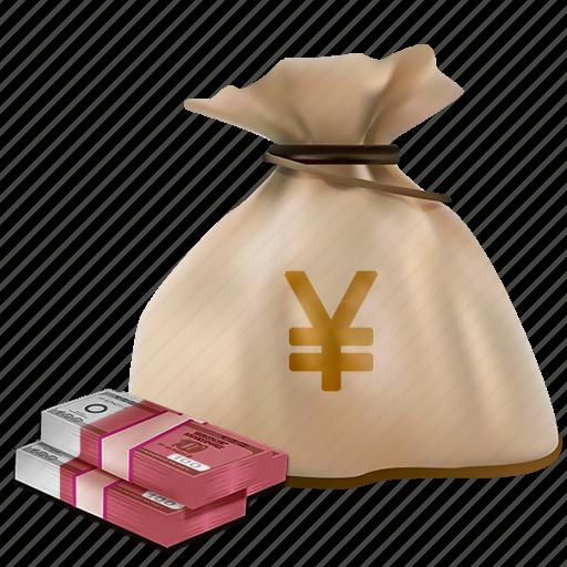 bag, buy, cash, currency, money, yuan icon