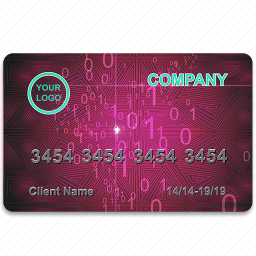 bank, business, card, credit, economy, finance, magenta, payment, plactic, realistic icon