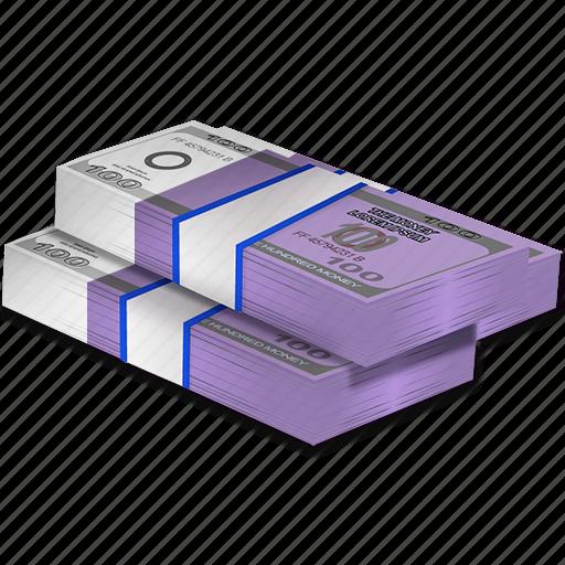 bundle, cash, currency, denomination, economy icon