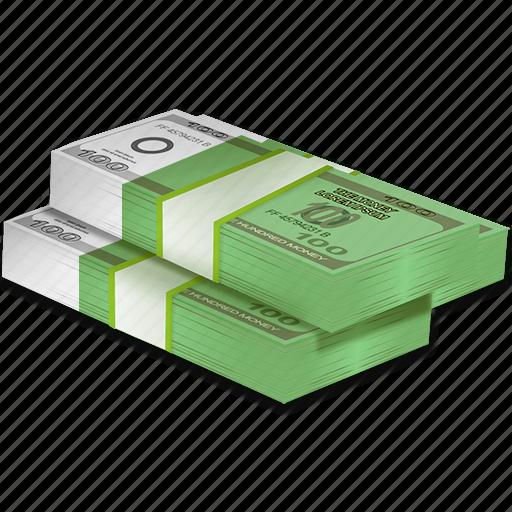 bundle, cash, dollars, euro, money, profit, wealth icon