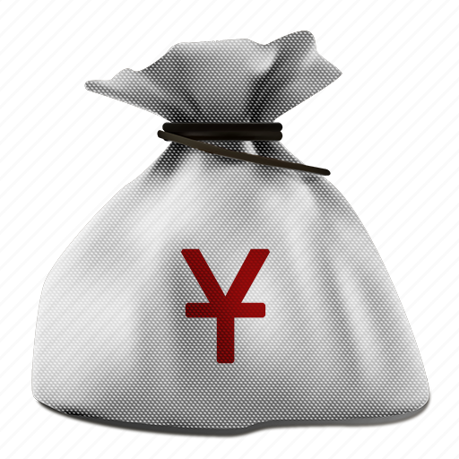 bag, business, buy, cash, currency, economy, finance, finances, market, money, moneybag, pay, payment, profit, realistic, rich, sack, sale, savings, shopping, sign, tax, treasure, wealth, white, yen, yuan icon