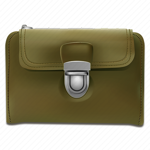 business, finances, green, leather, market, metall, money, payment, profit, realistic, shopping, silver, wallet, wealth icon