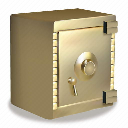 bank, business, closed, golden, money, safe icon