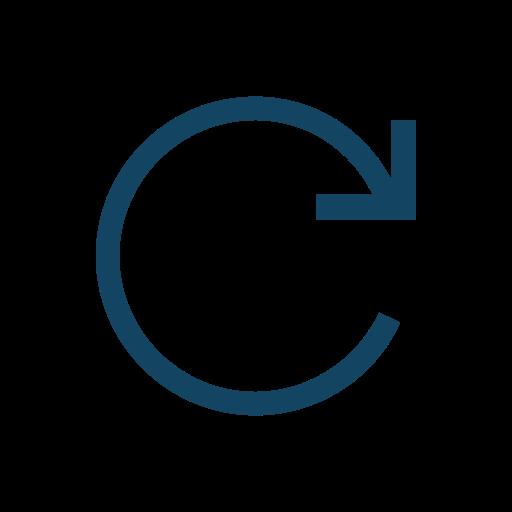 forward, right, rotation icon
