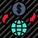 change, exchange, exchanging, internet, money icon