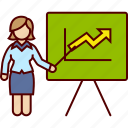 board, business, graphic, growing, increasing, woman