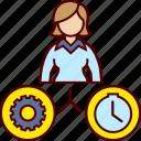business, gear, job, time, woman