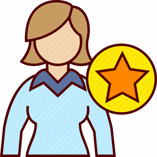 business, favorite, star, woman icon