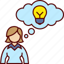 business, idea, think, thinking, woman