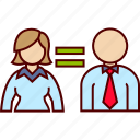 equal, equality, job, man, woman