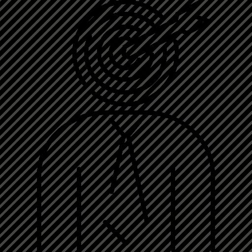 Arrow, businessman, headhunter, recruitment, target icon - Download on Iconfinder