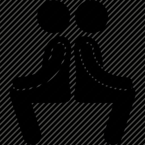 back, body, exercise, partner, teammate, training, workout icon