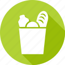 bag, bread, grocery, market, shopping, supermarket icon