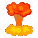 explode, object, bomb, atom, nuclear, cartoon, sign icon