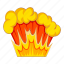 cartoon, explode, explosion, motion, object, power, sign icon