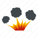 blast, bomb, boom, burst, effect, explode, explosion icon