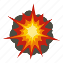 blast, bomb, boom, burst, effect, explode, fire explosion icon
