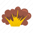 blast, bomb, boom, burst, effect, explode, high powered explosion icon