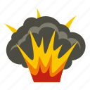 blast, bomb, boom, burst, effect, explode, projectile explosion icon