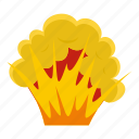 blast, bomb, boom, burst, effect, explode, flame and smoke icon