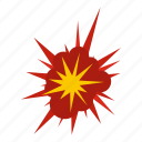 blast, bomb, boom, burst, effect, explode, nucleate explosion icon