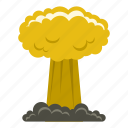 blast, bomb, boom, burst, effect, explode, mushroom cloud icon