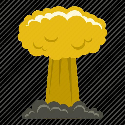 blast, bomb, boom, burst, effect, explode, mushroom cloud icon