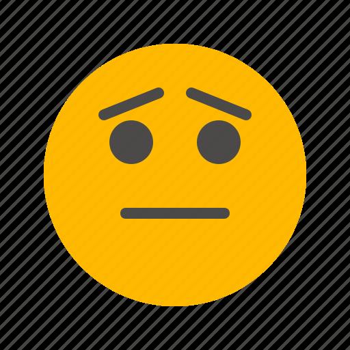 Emoji, emoticon, hapless, regretful, sad, sorrow, yearning icon - Download on Iconfinder