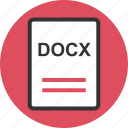 docx, extension, file, name icon