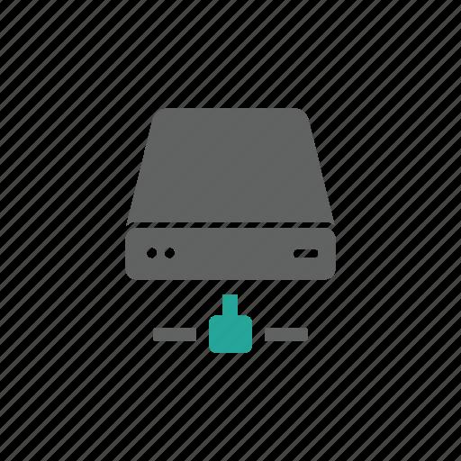 drive, dvd, external, network, portable, server icon