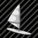 board, ocean, sail, sport, surfing, wave, wind icon