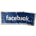 facebook, grunge, label, social media, tags icon